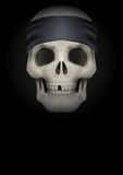 Dark Background of skull with bandana on head Royalty Free Stock Images
