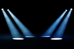 Dark background with spotlights Royalty Free Stock Photo