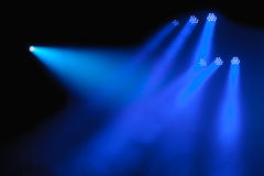 Dark background with spotlights Royalty Free Stock Images