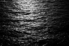 Dark background of water surface Royalty Free Stock Photo
