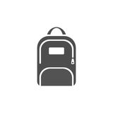 Dark backpack icon Royalty Free Stock Image