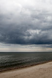 Dark baltic clouds. Royalty Free Stock Photography