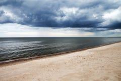 Dark baltic clouds. Stock Photos