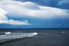 Dark Baltic sea. Royalty Free Stock Photos