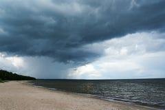 Dark Baltic sea. Royalty Free Stock Photo