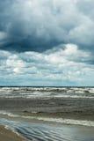 Dark Baltic sea. Stock Photo