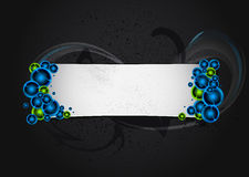 Dark banner. With color bubbles Royalty Free Stock Photos