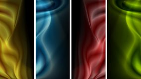 Dark banners with waves Stock Photography