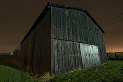 Dark barn. A barn in Kentucky at nighttime stock image