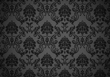 Dark baroque wallpaper Stock Photography