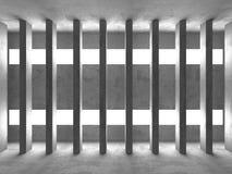 Dark basement empty room interior. Concrete walls Stock Photo
