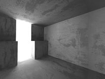 Dark basement empty room interior. Concrete walls. Architecture. Background. 3d render illustration royalty free illustration