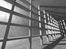 Dark basement empty room interior. Concrete walls Stock Images