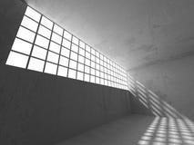 Dark basement empty room interior. Concrete walls Stock Photography