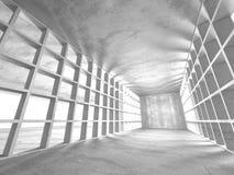 Dark basement empty room interior. Concrete walls Stock Photos