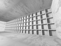 Dark basement empty room interior. Concrete walls Royalty Free Stock Photo