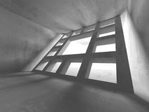 Dark basement empty room interior. Concrete walls Royalty Free Stock Images