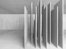 Dark basement empty room interior. Concrete walls Royalty Free Stock Image