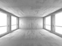 Dark basement empty room interior. Concrete walls Royalty Free Stock Photography