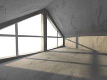 Dark basement empty room interior. Concrete walls Stock Image