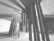 Dark basement empty room interior. Concrete walls Royalty Free Stock Photos