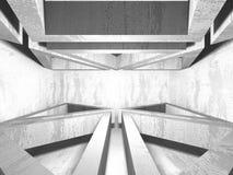 Dark basement empty room interior. Concrete walls. Architecture background. 3d render illustration Vector Illustration