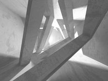 Dark basement empty room interior. Concrete walls. Architecture background. 3d render illustration Stock Illustration