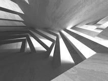 Dark basement empty room interior. Concrete walls. Architecture background. 3d render illustration royalty free illustration