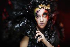 Dark Beautiful Gothic Princess.Halloween party stock photography