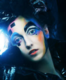 Dark Beautiful Gothic Princess.Halloween party. Royalty Free Stock Images