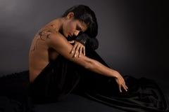 Dark beauty stock image