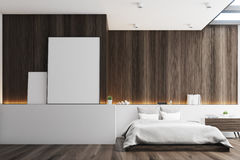 Dark bedroom, posters Royalty Free Stock Photography