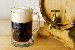 Dark beer. On the table Royalty Free Stock Image