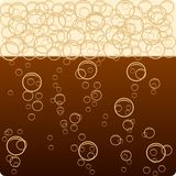 Dark beer. Dark beer and bubbles. Vector stock illustration
