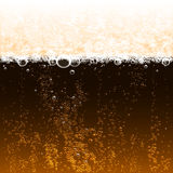 Dark beer. Background dark beer with foam and bubbles Royalty Free Stock Photos