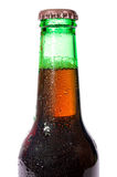 Dark beer. Bottle close up Stock Photos