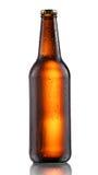 Dark beer bottle Stock Photos