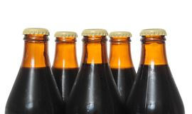 Dark Beer Bottles Royalty Free Stock Photography