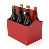 Dark beer bottles Royalty Free Stock Photo