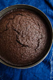 Dark beer and chocolate cake Stock Images