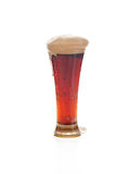 Dark beer with the foam in a glass Stock Photo