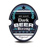 Dark beer label Stock Images