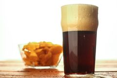 Dark beer pint Royalty Free Stock Photos