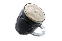 Dark beer on white Royalty Free Stock Image