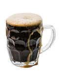 Dark beer on white Stock Image