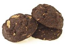 Dark big cookies pile Royalty Free Stock Photos