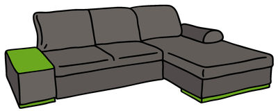Dark big couch Stock Images