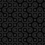 Dark Biotechnology Pattern. Neutral Seamless Bacterial Cells Wal Stock Images