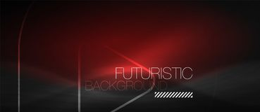 Dark black abstract background with neon colors and lines vector illustration