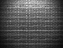 Dark black brick wall grunge background Stock Photos